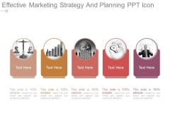Effective Marketing Strategy And Planning Ppt Icon
