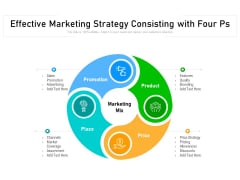 Effective Marketing Strategy Consisting With Four Ps Ppt PowerPoint Presentation Gallery Clipart PDF
