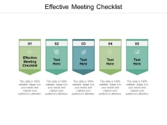 Effective Meeting Checklist Ppt PowerPoint Presentation Gallery Background Images Cpb
