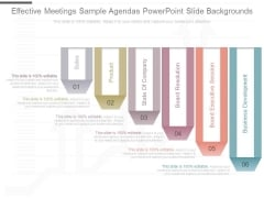 Effective Meetings Sample Agendas Powerpoint Slide Backgrounds