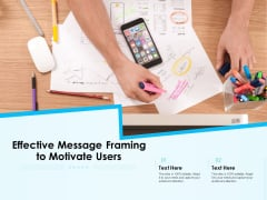 Effective Message Framing To Motivate Users Ppt PowerPoint Presentation Icon Background Designs