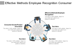 Effective Methods Employee Recognition Consumer Goods Product Innovation Ppt PowerPoint Presentation Show Shapes
