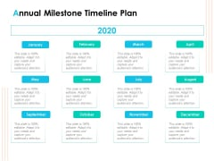 Effective Milestone Scheduling Approach Annual Milestone Timeline Plan Ppt PowerPoint Presentation Infographics Aids PDF