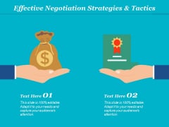 Effective Negotiation Strategies And Tactics Ppt Powerpoint Presentation Themes