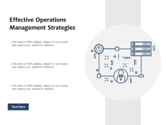Effective Operations Management Strategies Ppt PowerPoint Presentation Styles Tips