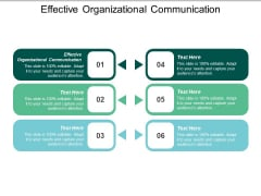 Effective Organizational Communication Ppt PowerPoint Presentation Gallery Maker Cpb