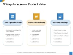 Effective Outcome Launch Roadmap 3 Ways To Increase Product Value Ppt Portfolio Examples PDF