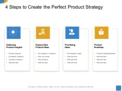 Effective Outcome Launch Roadmap 4 Steps To Create The Perfect Product Strategy Ppt Infographic Template Outfit PDF