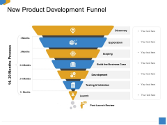 Effective Outcome Launch Roadmap New Product Development Funnel Ppt Model Graphics PDF