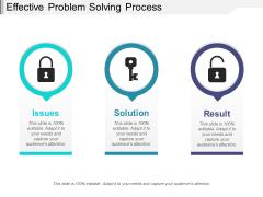 Effective Problem Solving Process Ppt PowerPoint Presentation Ideas Elements PDF