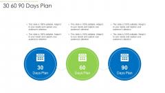 Effective Project Management Enhancing Customer Communication Time Management 30 60 90 Days Plan Brochure PDF