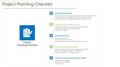 Effective Project Management Enhancing Customer Communication Time Management Project Planning Checklist Infographics PDF
