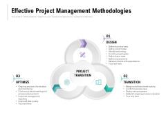 Effective Project Management Methodologies Ppt PowerPoint Presentation Ideas Infographics
