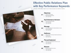 Effective Public Relations Plan With Key Performance Keywords Ppt PowerPoint Presentation Professional Layouts