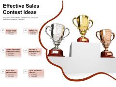 Effective Sales Contest Ideas Ppt PowerPoint Presentation Model Outfit PDF