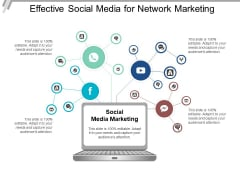 Effective Social Media For Network Marketing Ppt PowerPoint Presentation Outline