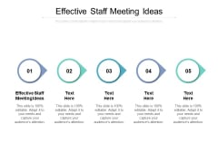 Effective Staff Meeting Ideas Ppt PowerPoint Presentation File Picture Cpb