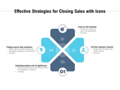 Effective Strategies For Closing Sales With Icons Ppt PowerPoint Presentation Portfolio Portrait