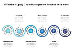 Effective Supply Chain Management Process With Icons Ppt PowerPoint Presentation Model Example File PDF