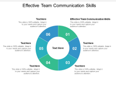 Effective Team Communication Skills Ppt PowerPoint Presentation Summary Gridlines Cpb