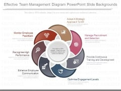 Effective Team Management Diagram Powerpoint Slide Backgrounds