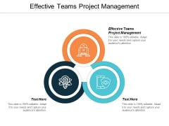Effective Teams Project Management Ppt PowerPoint Presentation Outline Slideshow Cpb