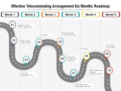 Effective Telecommuting Arrangement Six Months Roadmap Mockup