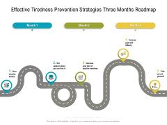 Effective Tiredness Prevention Strategies Three Months Roadmap Mockup Themes