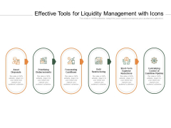 Effective Tools For Liquidity Management With Icons Ppt PowerPoint Presentation Ideas Background Designs
