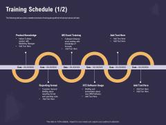 Effective Workforce Management Training Schedule Product Ppt PowerPoint Presentation Model Slideshow PDF