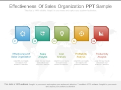 Effectiveness Of Sales Organization Ppt Sample
