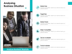 Effectivity Associated To Target Market Analysing Business Situation Ppt Infographic Template Icon PDF