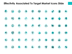 Effectivity Associated To Target Market Icons Slide Pictures PDF