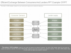 Efficient Exchange Between Consumers And Lenders Ppt Example Of Ppt