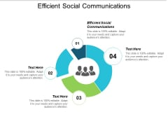Efficient Social Communications Ppt PowerPoint Presentation Pictures Icons Cpb