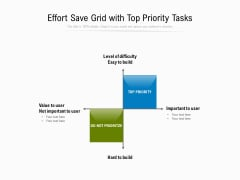 Effort Save Grid With Top Priority Tasks Ppt PowerPoint Presentation File Graphics PDF