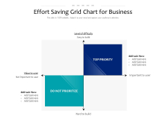 Effort Saving Grid Chart For Business Ppt PowerPoint Presentation Ideas Example File PDF