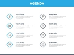 Eight Banners With Icons For Business Agenda Powerpoint Slides