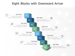 Eight Blocks With Downward Arrow Ppt PowerPoint Presentation Professional Show