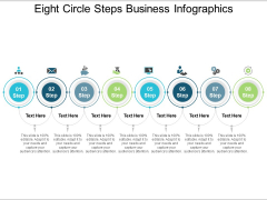 Eight Circle Steps Business Infographics Ppt PowerPoint Presentation Summary Slides