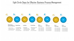 Eight Circle Steps For Effective Business Process Management Ppt PowerPoint Presentation File Show PDF