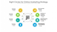 Eight Circles For Online Marketing Strategy Ppt PowerPoint Presentation File Professional PDF