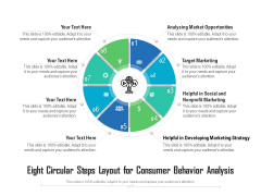 Eight Circular Steps Layout For Consumer Behavior Analysis Ppt PowerPoint Presentation File Formats PDF
