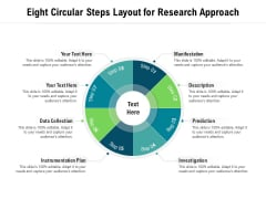Eight Circular Steps Layout For Research Approach Ppt PowerPoint Presentation Gallery Images PDF