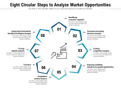 Eight Circular Steps To Analyze Market Opportunities Ppt PowerPoint Presentation Icon Example PDF