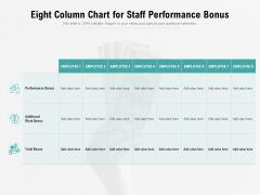 Eight Column Chart For Staff Performance Bonus Ppt PowerPoint Presentation File Example PDF