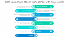 Eight Components Of Lean Management With Visual Control Ppt PowerPoint Presentation Gallery Icon PDF