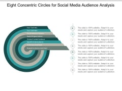 Eight Concentric Circles For Social Media Audience Analysis Ppt PowerPoint Presentation Icon Graphics