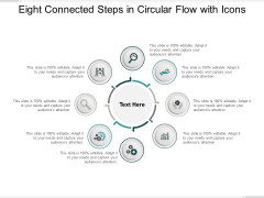 Eight Connected Steps In Circular Flow With Icons Ppt PowerPoint Presentation Inspiration Topics
