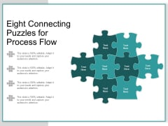 Eight Connecting Puzzles For Process Flow Ppt PowerPoint Presentation Summary Format Ideas